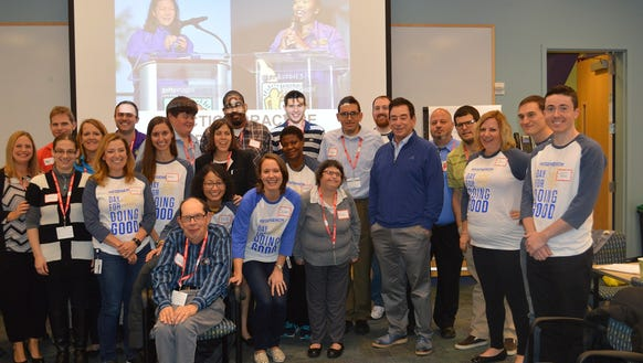 Regeneron employees volunteer on company-wide Day for