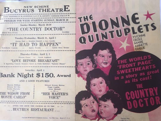 An advertisement for the Schine's Bucyrus Theater from
