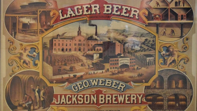 An ad from the Jackson Brewery will be included in an exhibit opening June 24, at the Johnson-Humrickhouse Museum. Hundreds of breweries will be represented by a wide array of objects from tin signs and trays to cans, bottles, coasters and taps. Most of the breweries are long gone, but visitors will recognize the names of the cities and small towns where they once thrived.