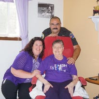 Jan Boardwell is a volunteer and cancer survivor who's inspired many at Silverton/Mt. Angel Relay for Life, including coordinator Stacy Palmer and logistics coordinator Rick Heuchert.