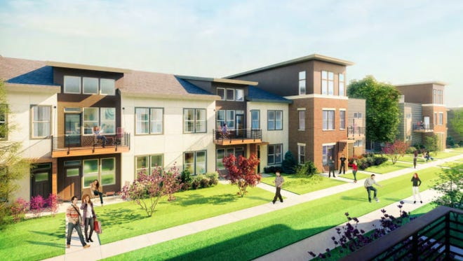 A lakefront apartment development proposed for St. Francis has been downsized by around 100 units.