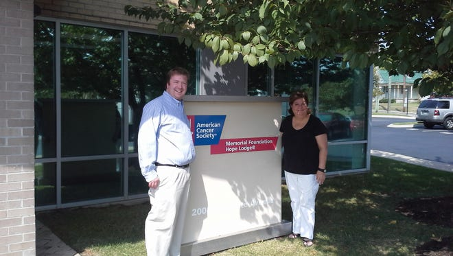 Jo Pulcini, left, associate director of ACS Hope Lodge, and Jerri Rule, Montgomery County Community Liaison, got together recently at the American Cancer Society's office.