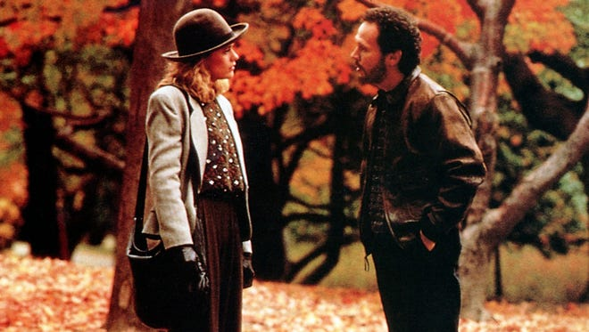 Sally (Meg Ryan) and Harry (Billy Crystal) meet and become friends in many seasons, but their autumnal Central Park walk is iconic.