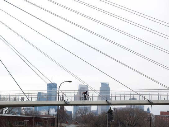 Year-round Minneapolis bike commuter Timothy Hellman,