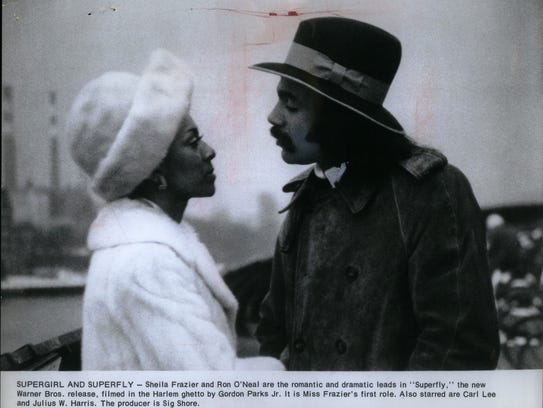 Ron O'Neal, American actor and Sheila Frazier star