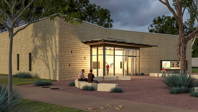 An architectural rendering of ASU's Hunter Strain Engineering Laboratories by Kinney Franke Architects shows how the lab would fit on ASU's campus