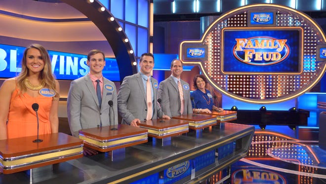 """From left, Madison, Grant, Logan, Tim and Melanie Blevins of Knoxville will appear on """"Family Feud"""" at 7:30 p.m. tonight."""