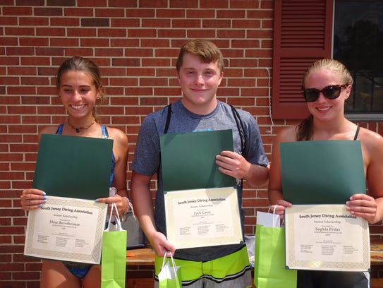 The South Jersey Diving Association gave out three