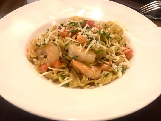 Gulf shrimp in a creamy parmesan sauce with fettuccine