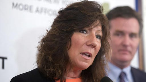 Mike Groll/AP Republican state Sen. Susan Serino: ?There are many issues that simply transcend politics ... this is certainly one of them.? Sen. Susan Serino, R-Poughkeepsie, speaks during a news conference on Wednesday, March 9, 2016, in Albany, N.Y. T