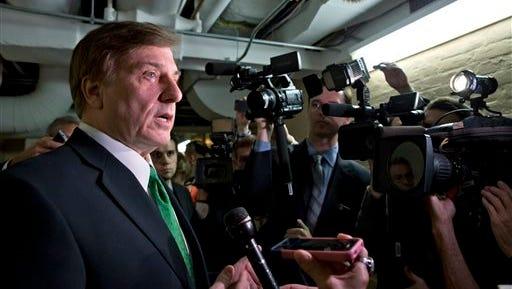 Oct. 12, 2013, file photo, following a closed-door meeting of House Republicans, Rep. John Fleming, R-La.