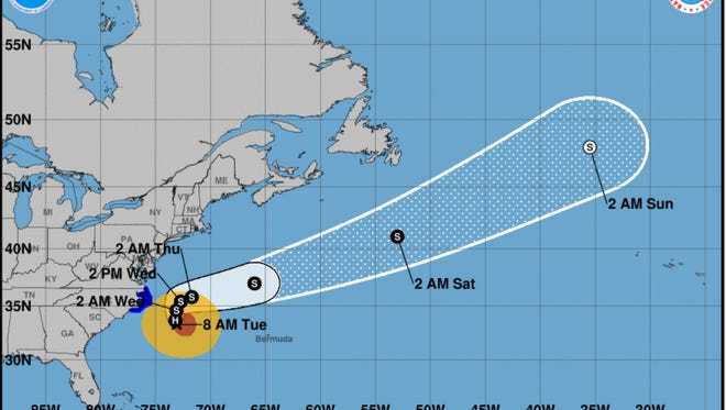 Hurricane Maria is winding its way up the east coast after savaging Puerto Rico.