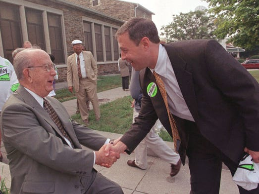 Martin O'Malley greets former mayor, governor and then-state