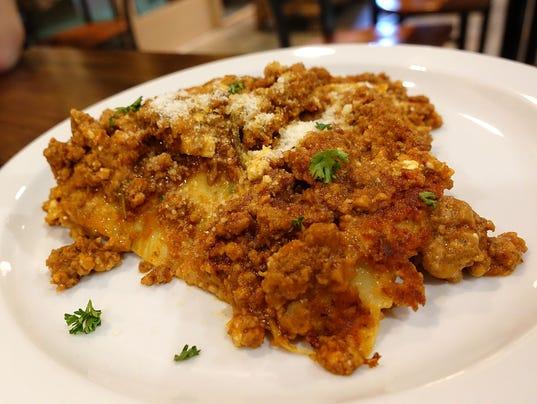 Lasagna at Fabio On Fire