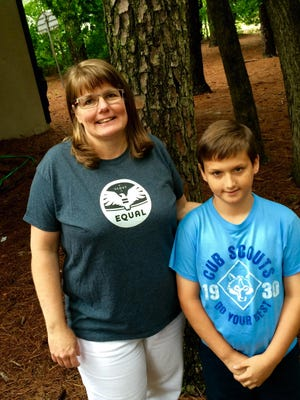 Heather Collins and her son, Josh, are part of Scouts for Equality.