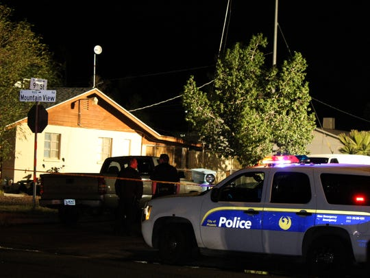 Police served a search warrant Tuesday night at the