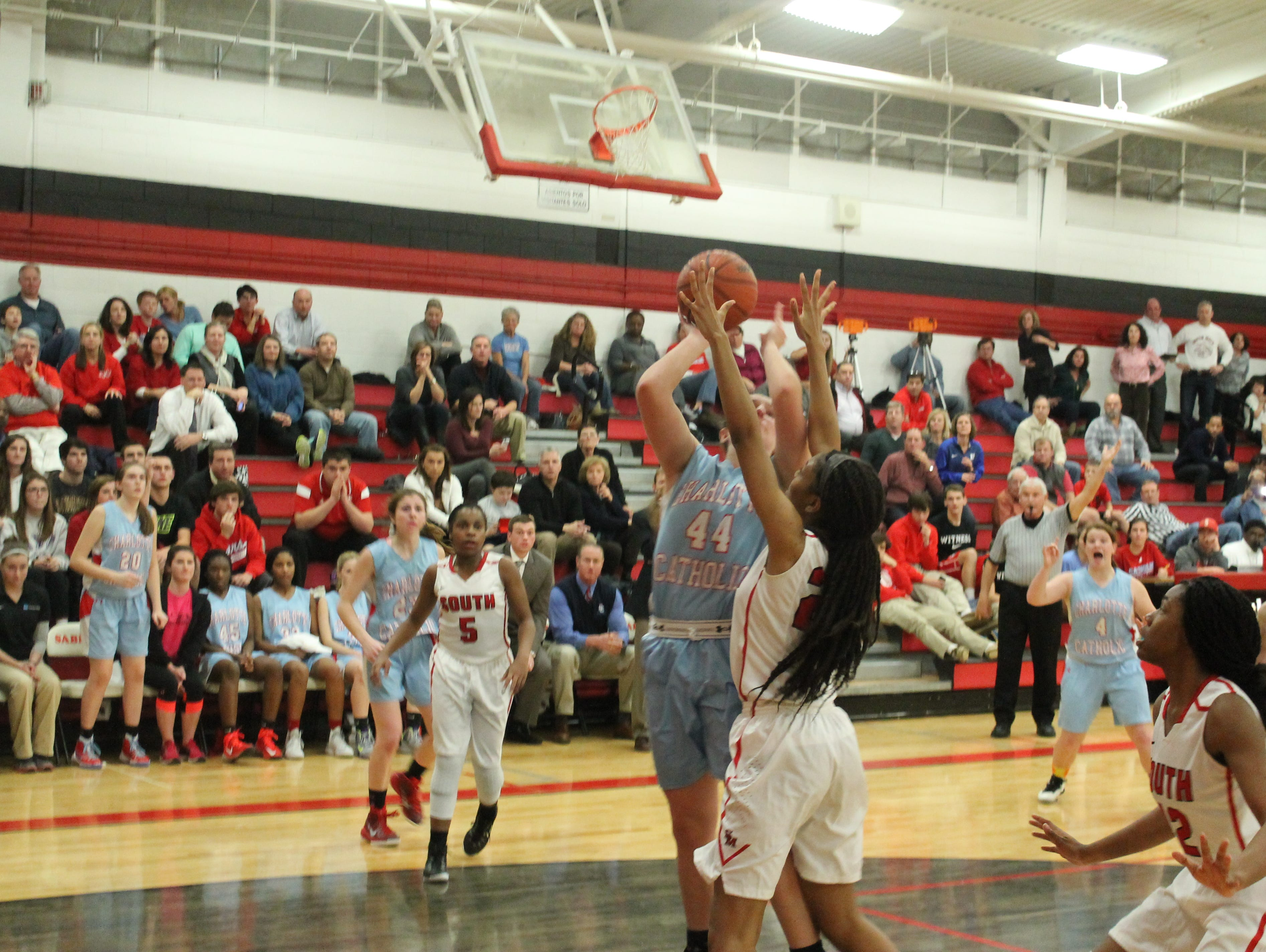 Charlotte Catholic defeated South Meck on a buzzer-beating shot.