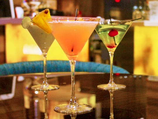 A selection of martinis at Indiana Grand Racing & Casino's new Center Cut featuring steak and seafood.