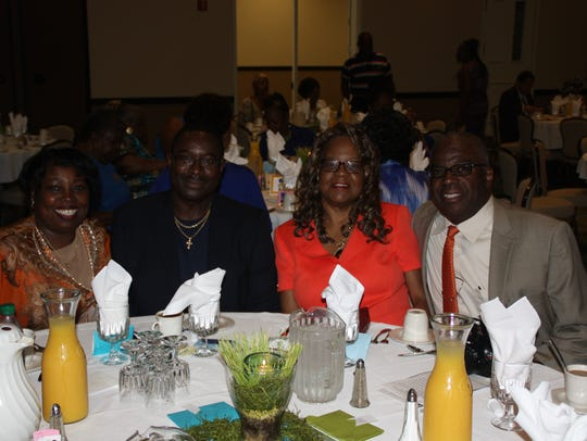 Loretta and Greg Arthur, left to right, and Doris and