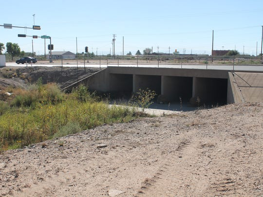 The other end of the canal on Canal Street and Indian Wells Road. The canal goes under White Sands Boulevard.
