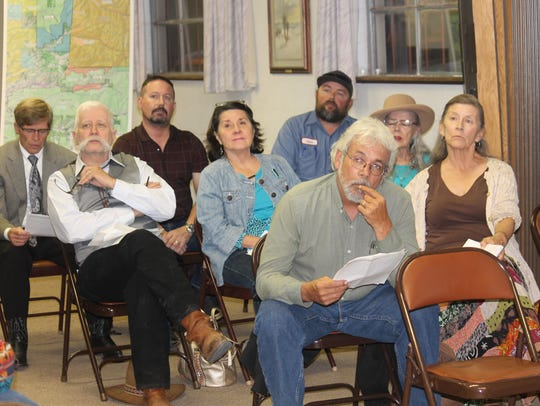 Residents attended a public meeting hosted by the Forest