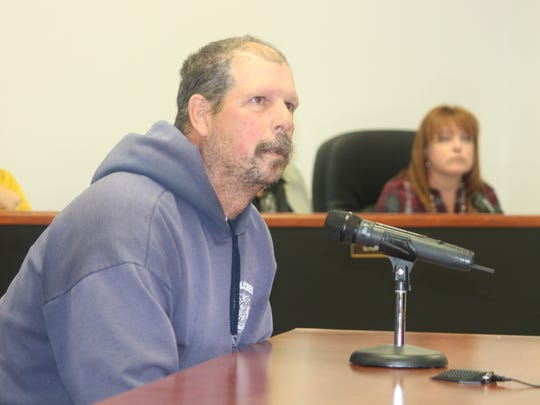 Chief of Boles Acres Volunteer Fire Department John Badger pleaded with County Commissioners to alleviate the weed situation in Boles Acres.