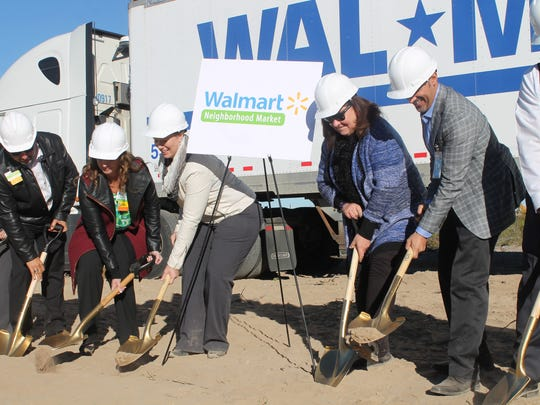Community members along with members of Walmart's team