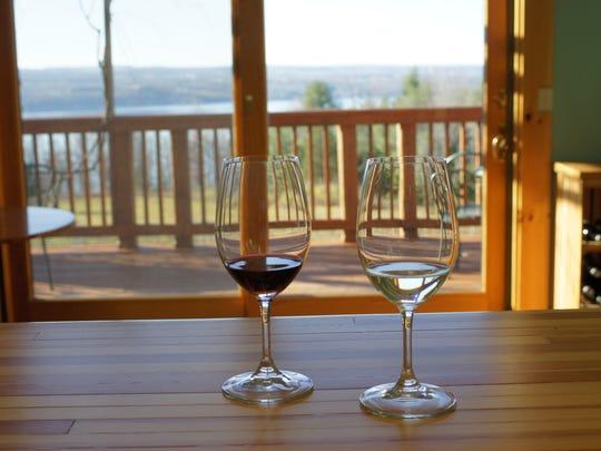 Silver Thread Vineyard overlooks Seneca Lake.
