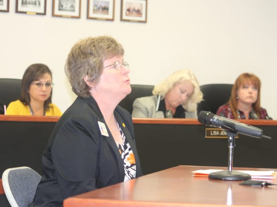 Economic Developer for the New Mexico Economic Development Department Christine Logan discussed the Local Economic Development Act at the Nov. 12 county commission meeting. Under LEDA, the program will promote job creation in the area.