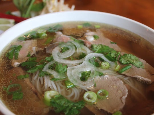 Clear broth, plenty of flavor in the pho at Star Ainse.