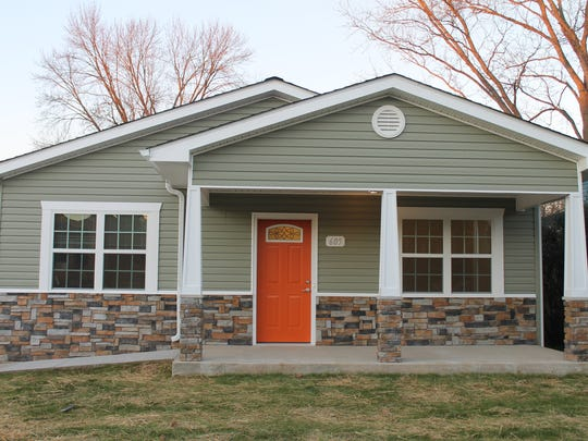 This is the new Habitat for Humanity home in Murfreesboro, Jan. 14, 2016.