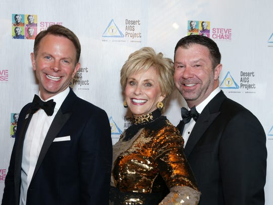 From left, DAP CEO David Brinkman with Barbara Keller and Jim Casey, Steve Chase Humanitarian Awards gala co-chairs from 2009-2015.
