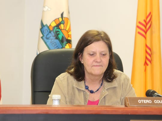 County Commission Chairman Susan Flores at the Feb. 11 regular County Commission meeting.