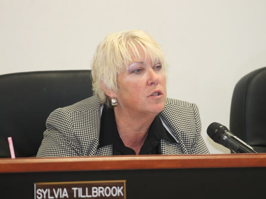 Otero County Attorney Lisa Jenkins at the Feb. 11 regular County Commission meeting.