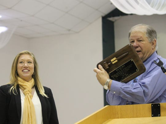 Interim City Manager Dr. George Straface presented Galea with a plaque on Tuesday night for her work serving the Alamogordo during her time as mayor-at-large.