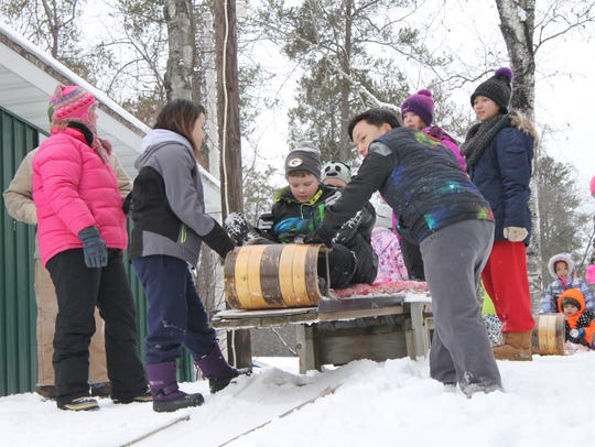 Tobogganing was one Family Fun Day activity Feb. 6