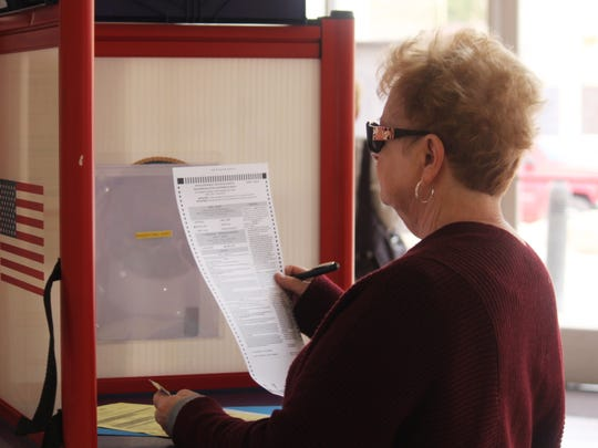 At noon on Tuesday, about 700 residents had voted at