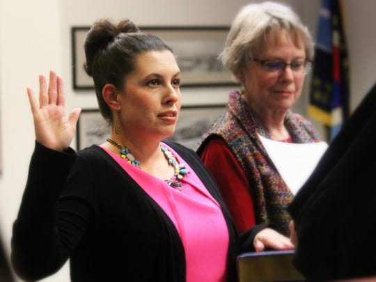 Erica Martin, commissioner of District 6, was sworn in Tuesday evening in front of residents.