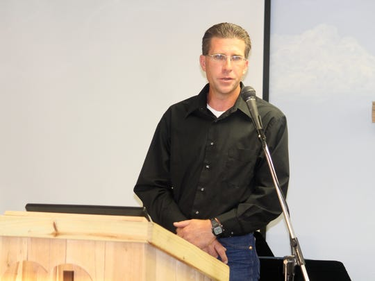 Otero County Commission District 3 candidate Joshua W. Rardin, R, introduced himself to the community at New Heart Cowboy Church Thursday evening.