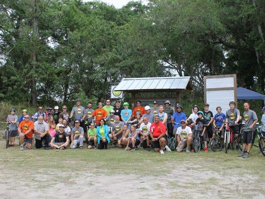Members of the Brevard Mountain Bike Association were