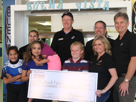 Domino's Pizza hosted a fundraiser night in honor of Kylie and the proceeds of their sales from the event totalled about $1,700.