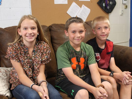 Buena Vista Elementary student council members Malea Westover, Ethan Young and Thomas Bond led efforts to raise money for Kylie's medical expenses. Ultimately, the students of Buena Vista have raised about $1,700 for the Beach family.