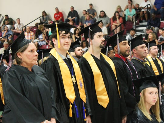 179 students from New Mexico State University-Alamogordo graduated on Friday evening at the Tays Center.