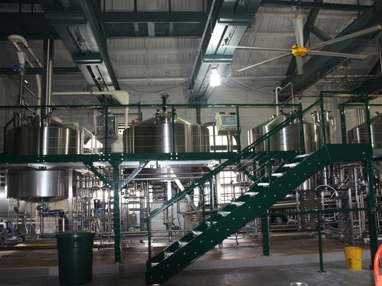 Jeff O'Neil's new brewery is equipped with a custom four-vessel German brewing system.
