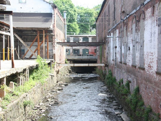 The Minisceongo Creek runs through the historic Garner Arts Center.