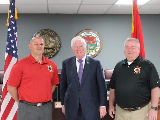 Franklin Firefighters Association President David Edge,