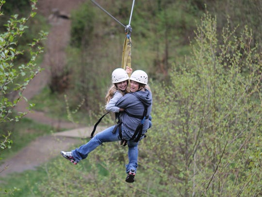 Zip lines run throughout Camp Dakota.