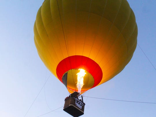 The 2018 Red River Balloon Rally Balloon Glow at LSU Shreveport. The 2020 event will not include a festival but will proceed with hot air balloon flyovers across Shreveport-Bossier City June 12-13.