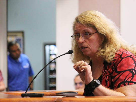 Deborah Cobb spoke during public comment about her family's use of the pool.
