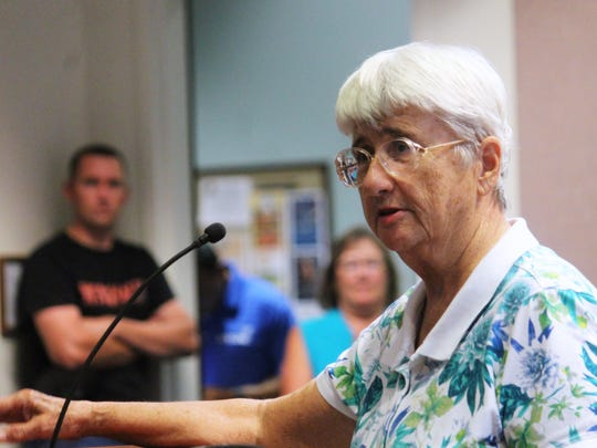 Jan King was one of many senior citizens to speak to City Commissioners during public comment about the Recreation Center pool.